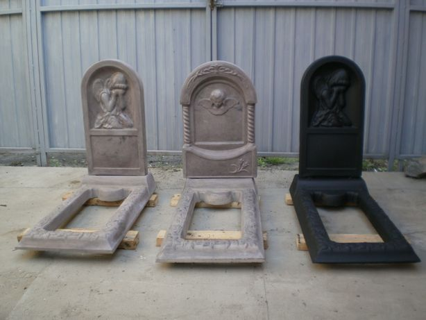 Памятник-мрамор из бетона
