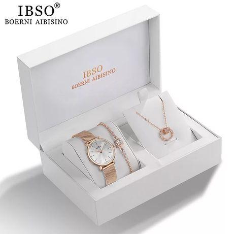 Набор кварцевых часов IBSO для женщин,Лучший подарок  Любимой!!!