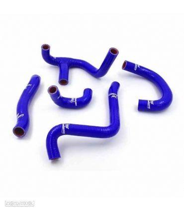 kit tubos radiador samco aprilia rs 250 1998 - 2003 azul