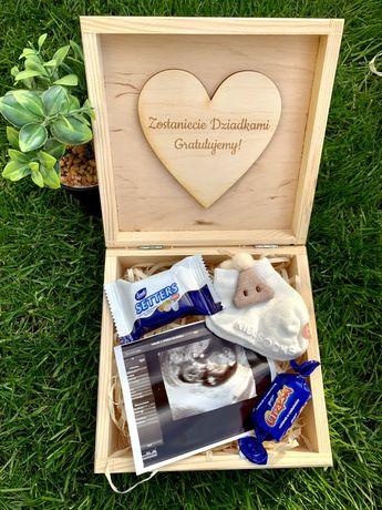 Box niespodzianka ciąża narodziny prezent