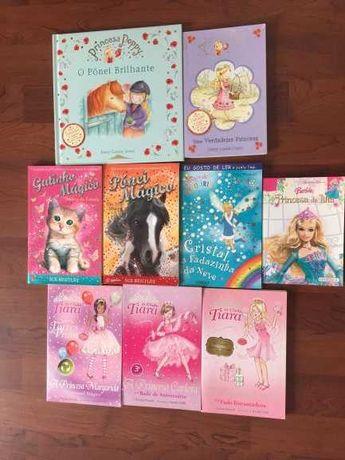Livros (10) da Barbie, princesas e fadas