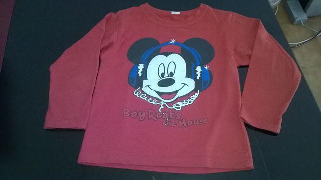 Swets camisolas do mickey novas . Tamanho dos 2 aos 14 anos