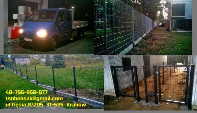 Montaż ogrodzeń panelowych,furtki, bramy.