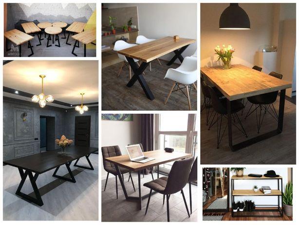 Стол кухонный в стиле Лофт loft деревянный стол з дерева стіл круглый