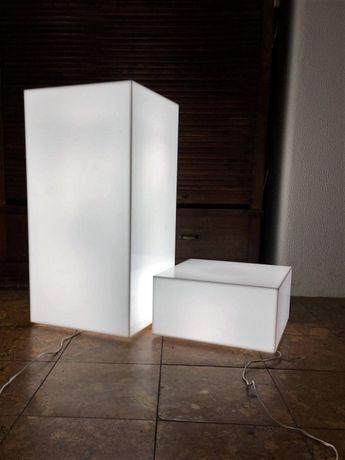 Caixas de luz, LED, interior/exterior.