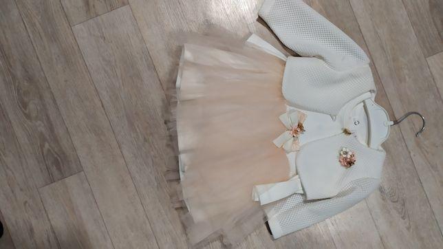 Платье на девочку с жикетом