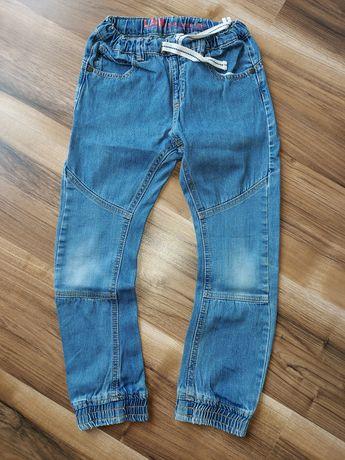 Spodnie jeansowe joggery r. 128