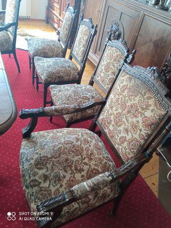 Meble stylowe komplet stół z krzesłami fotele kanapa