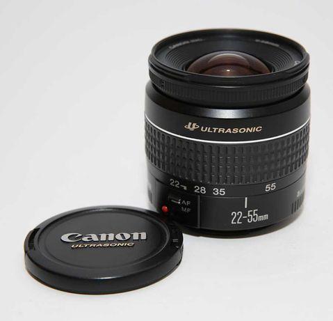 Canon EF 22-55mm 1:4-5.6 USM com parasol