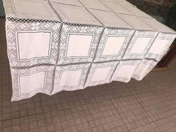 Toalha de mesa, linho e renda, linha fina, apenas lavada para venda