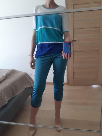 szafirowe spodnie 3/4 marki Solar, r. 38 + bluzka solar gratis