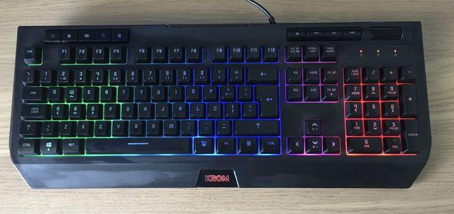 Teclado Gaming KROM kuma RGB (Semi-mecânico - layout pt -preto)