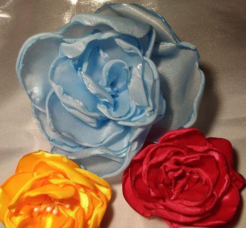 Цветы из ткани для украшения одежды, обуви, сумок, причёсок