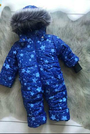 Комбинезон Синяя звезда  комбез зимний зима 80 86 92