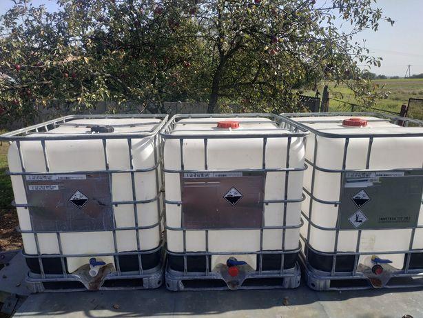 Zbiornik na wodę, paliwo, szambo mauzer 1000 litrów, metalowa paleta.