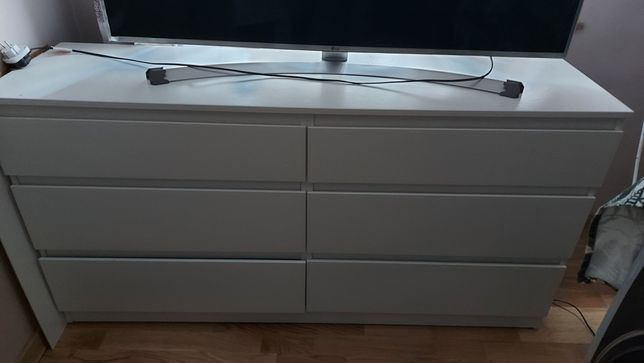 Ikea kullen Komoda 6 szuflad biała