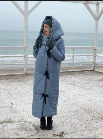Пуховик одеяло на завязках