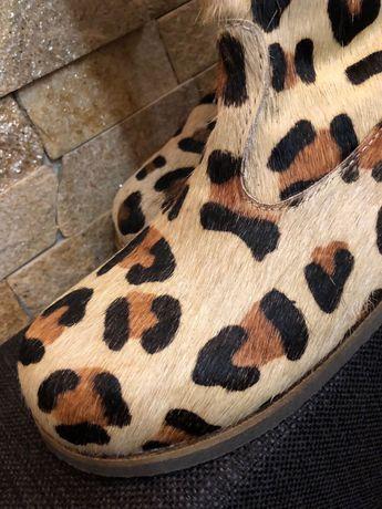 Сапоги леопардовые Mini Boden