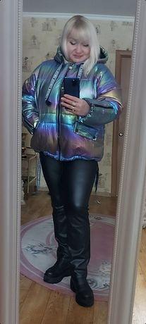 Sassofono ,EZE новая , модная ,теплая куртка, Люкс ! Баталы  50-56 .