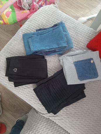 Spodnie ciążowe r.36  RURKI 3 pary H&M