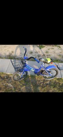 """Rowerek dziecięcy 16"""" z kółkami bocznymi i pałąkiem do nauki jazdy"""