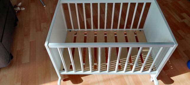 Ikea kołyska SOLGUL z materacem piankowym stan bardzo dobry 66x84