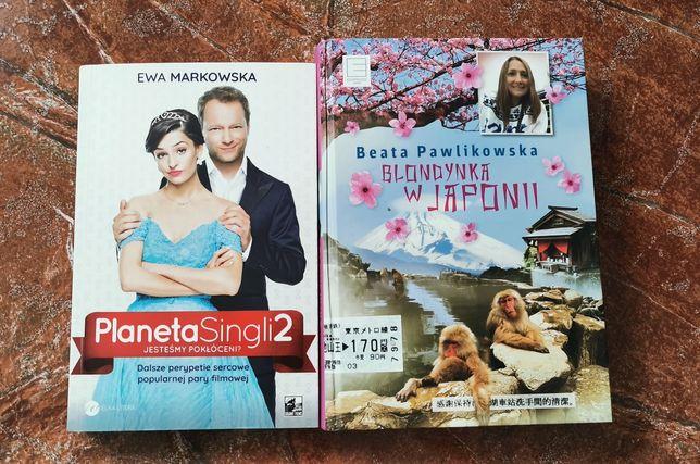 Książki planeta singli 2 oraz blondynka w Japonii