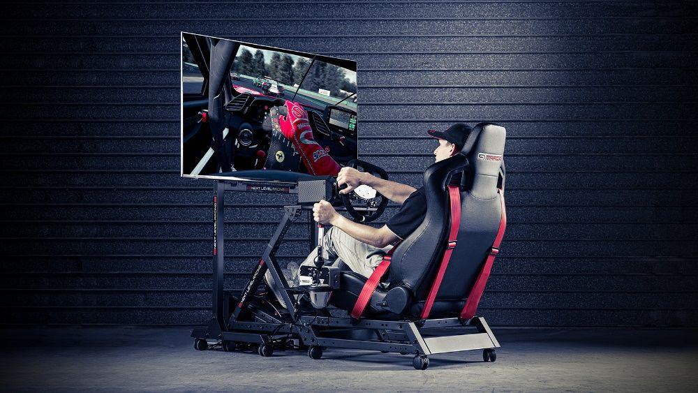 Simulador Next Level Racing GTtrack Cockpit Corrida Baquet NOVO