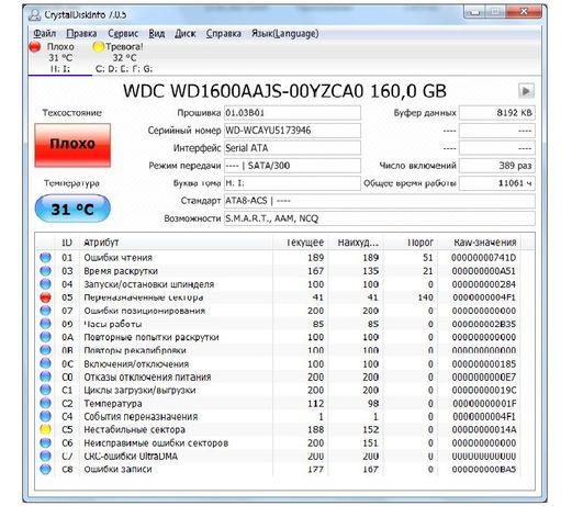 Диск Western Digital WD 1600 AAJS-00YZCA0 160,0 GB