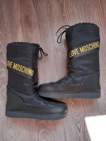Луноходы дутики ботинки сапоги Moschino Love 41-42р