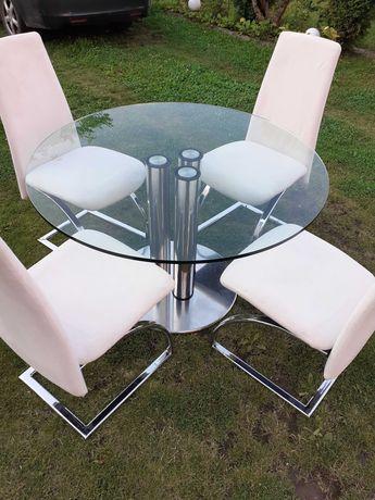 Stół szklany, krzesła