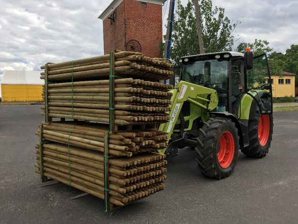 Słupki drewniane toczone impregnowane do drzewek fi 5 dł.2m