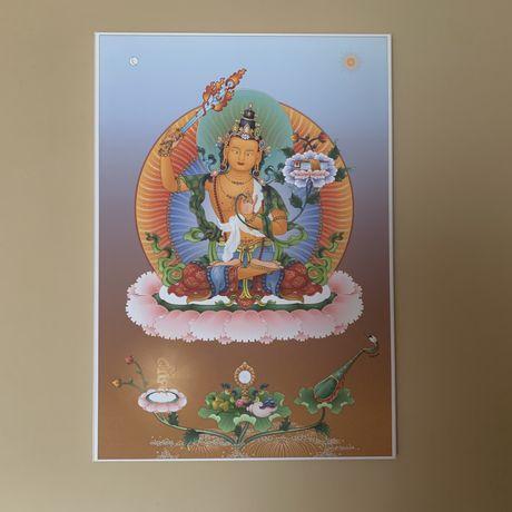 Manjushree obraz 100x70 cm thangka budda buddyzm buddyjskie