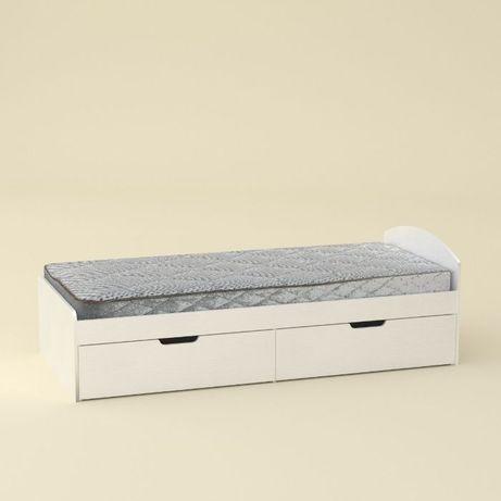 Кровать Односпальная 90*200 с Ящиками и Ортопедическим Матрасом Эко 41