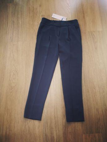 SIMPLE nowe spodnie garniturowe, spodnie cygaretki r. 34