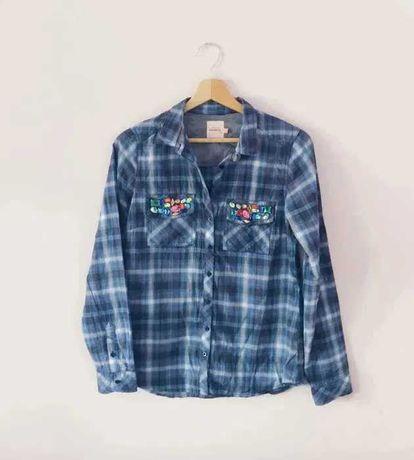 Niebieska koszula w kratkę Reserved 36