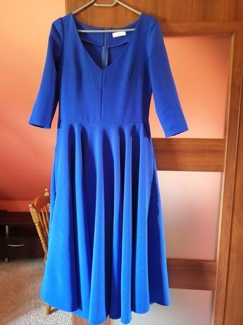 Sukienka rozkloszowana MIDI, r. M