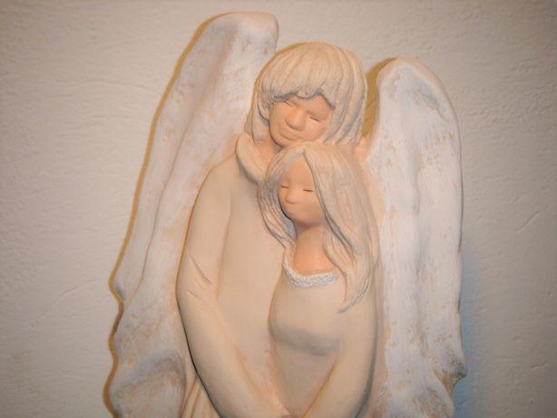 anioł zakochanych - walentynki - figurka 46x18cm świecznik, rękodzieło