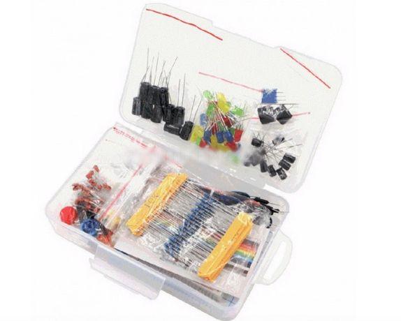 Starter Kit para Arduino Resistor/LED/Capacitor/Fios Jumper/Breadboard