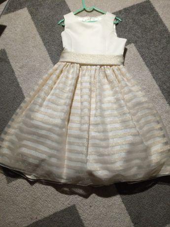 Kremowa sukienka dziewczęca