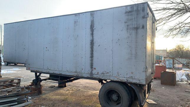 Полуприцеп Зил ГКБ фургон будка вагончик передвижной сторожка пасека