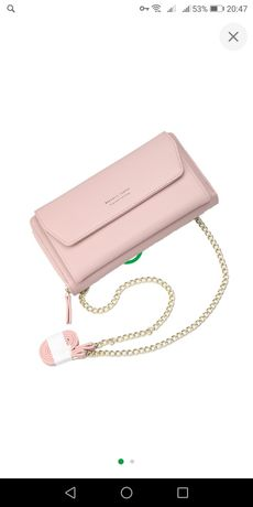 Женский кошелек-клатч Baellerry Leather Пудровый Розовый