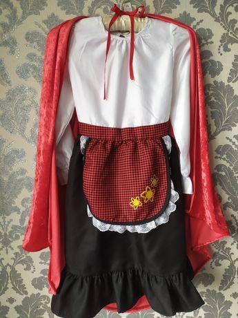 Карнавальное платье красной шапочки, красная шапочка