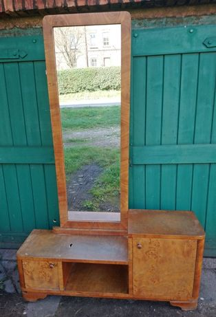 szafka do przedpokoju sypialni z lustrem lustro prl retro vintage