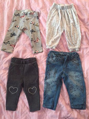 Брендові штанішки, колготки, костюмчик на дівчинку 68-74 см