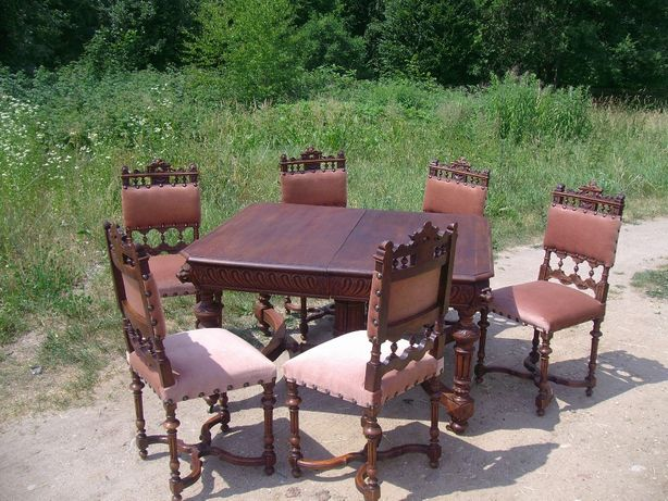 Sprzedam komplet,stół z 6 krzesłami-ANTKI