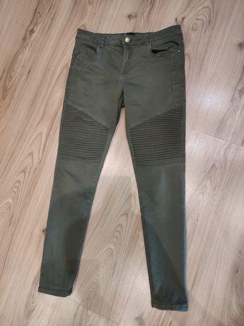 Spodnie khaki Mohito S 36 zieleń