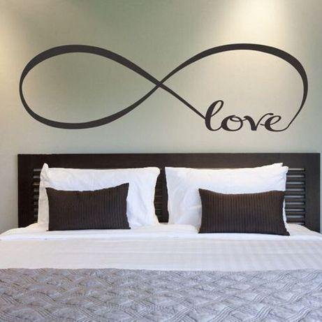 Большая наклейка на стену. Знак бесконечности.Любовь