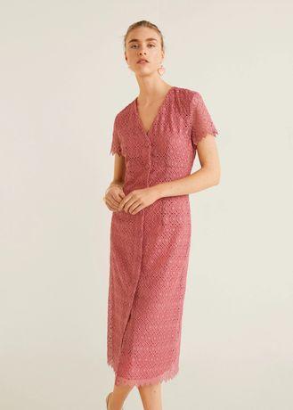 Платье Mango размер s гипюр