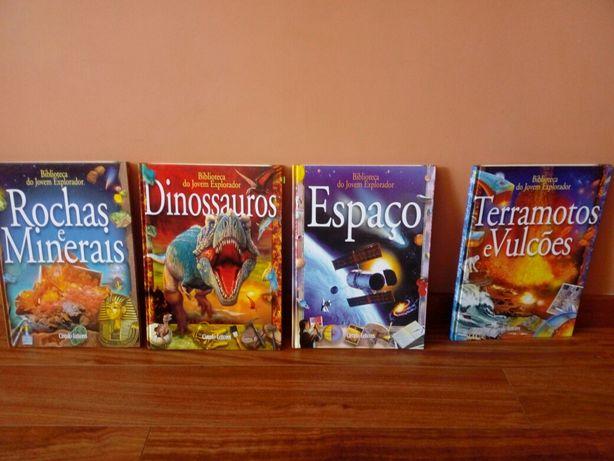 Conjunto de 4 livros Biblioteca do Jovem Explorador.